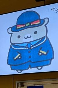 武蔵溝ノ口駅マスコットキャラクター「はむみン」